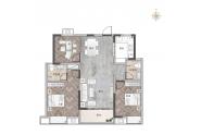 三室两厅两卫 B户型